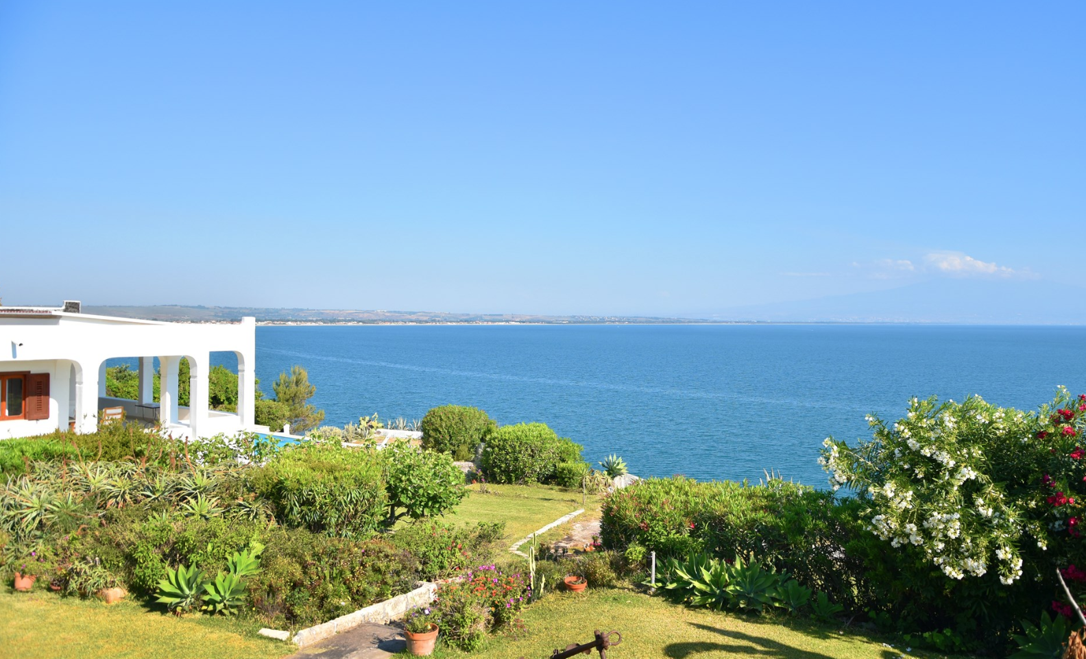 clifftop view from our villa